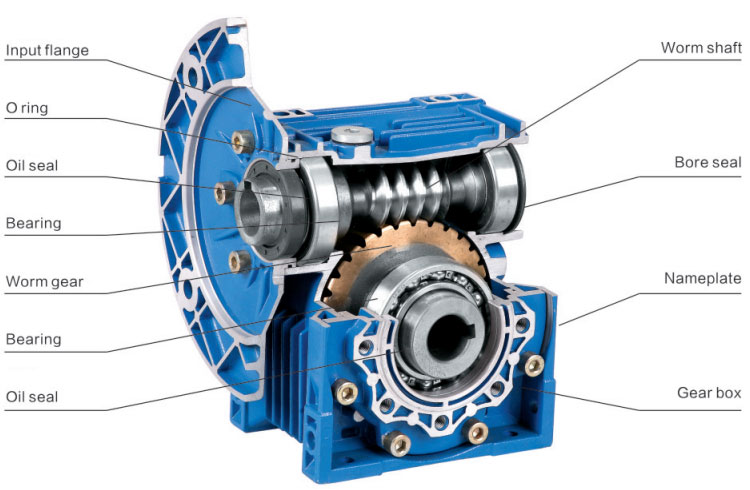 Speed reducer worm gear-box NMRV