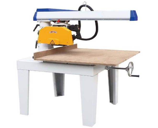 "Radial arm saw with 12"" Blade and 24"" Crosscut, 3HP 3 Phase"
